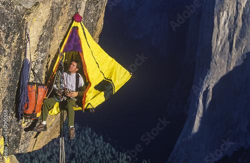 Photo Climber on the edge.