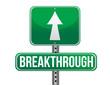 breakthrough road sign illustration design