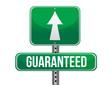 guaranteed road sign illustration design