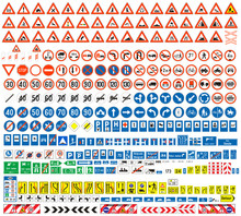 Traffic Signs Colection, Europen, More Than 300 Pcs