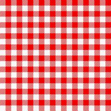 Rot Weiß Kariertes Tischtuch