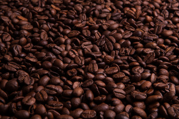 Obraz na Szkle Do kawiarni Roasted coffee beans