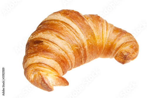Fotografía croissant isolated isolated on white