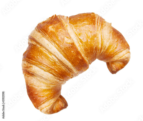 Fotomural croissant isolated isolated on white