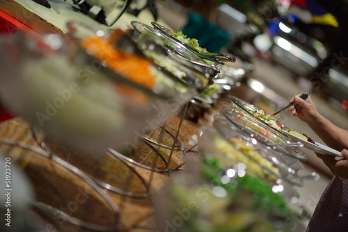 Fototapeta buffet food obraz na płótnie