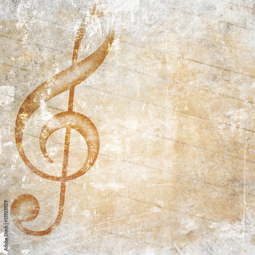 musical grunge background - 51928929