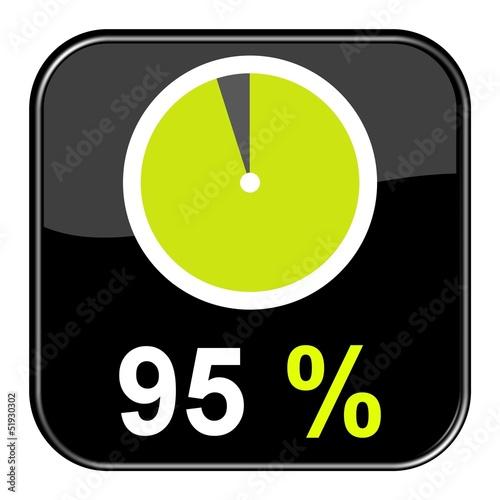 Fotografie, Obraz  Button: 95% Prozent