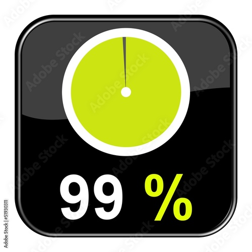 Fotografie, Obraz  Button: 99% Prozent