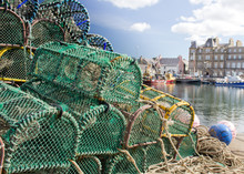 Lobster Pots On Kirkwall Harbour