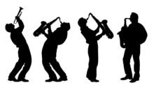 Silhouette Of Jazz Musician