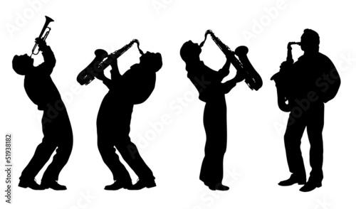Photo  silhouette of jazz musician