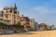 canvas print picture - Trouville sur Mer beach promenade, Normandy, France