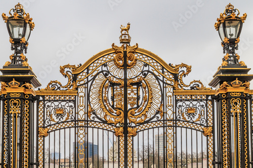 Ornate Gate at Buckingham Palace,  London, UK Canvas Print