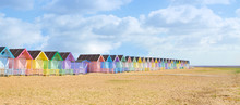 Traditional British Beach Huts...