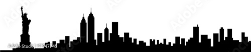New York City Skyline Silhouette - 51947745