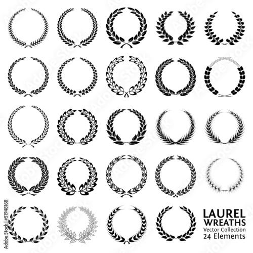 Fotografie, Obraz  Laurel Wreaths Collection