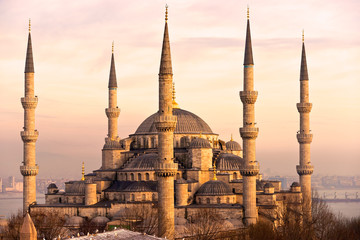 Obraz na Plexi Architektura The Blue Mosque, Istanbul, Turkey.