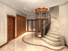 Rendering Of An Art Nouveau En...