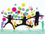 Farbenfrohes Kinder Fest