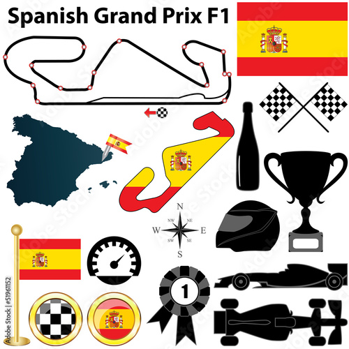 Deurstickers F1 Spanish Grand Prix F1