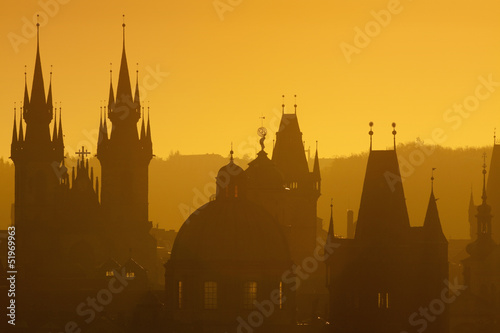 Printed kitchen splashbacks Prague prague - spires of the old town