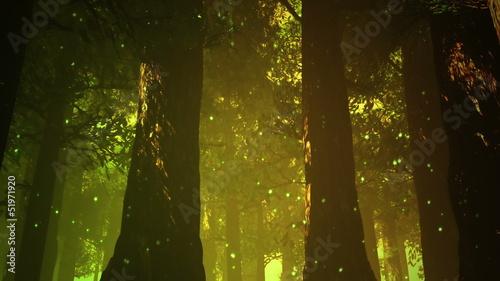 Foto  Magic Deep Forest Fairy Tale Scene 3D artwork