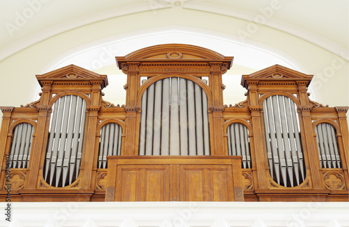 Part of pipe organ - Buy this stock photo and explore