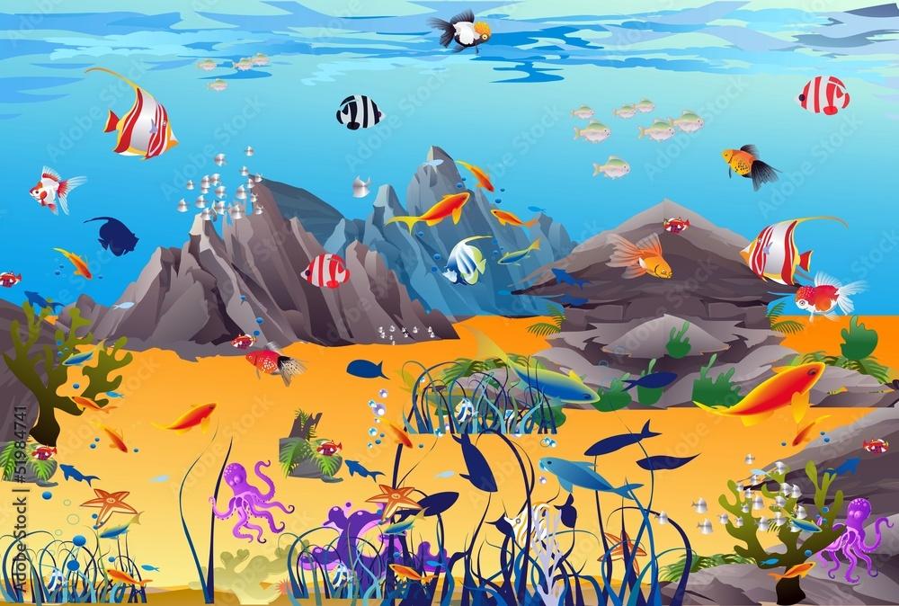 Fototapeta podwodny świat,