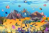 Fototapeta Do akwarium - podwodny świat,
