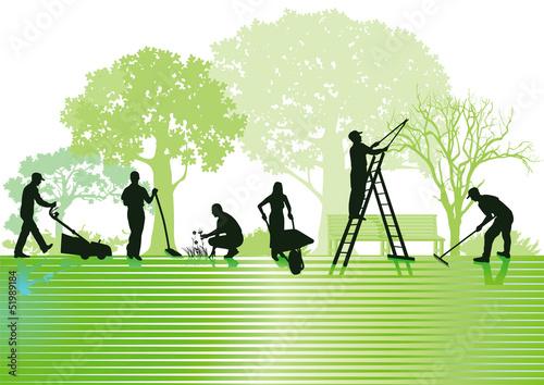 Fotografia, Obraz Gartenarbeiten und Gartenpflege