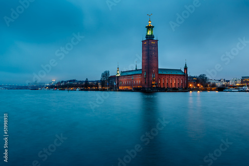 Poster Stockholm Stockholm Cityhall Located on Kungsholmen Island in the Morning,