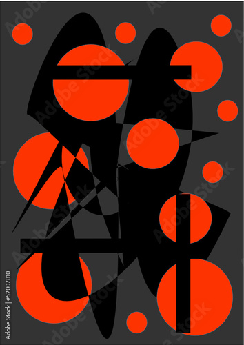 Orange Abstraktion - 52007810