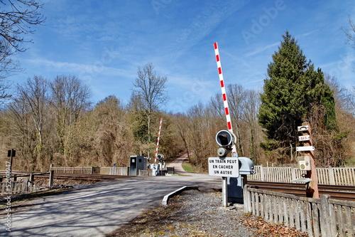 Fotografia, Obraz  Barrière de passage à niveau