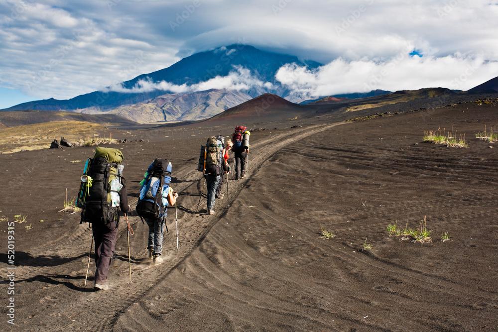 Fototapety, obrazy: Trekking on Kamchatka.