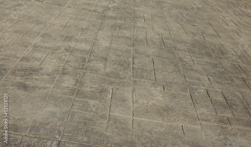 Fotografija  Pavimento di cemento stampato come sfondo