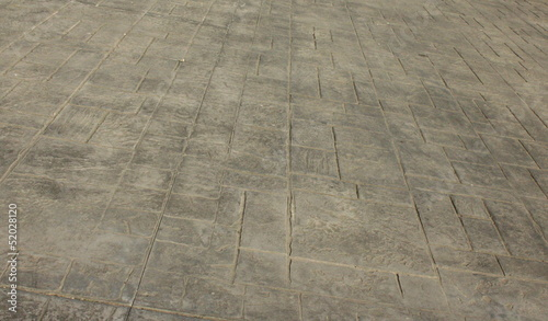 Fényképezés  Pavimento di cemento stampato come sfondo