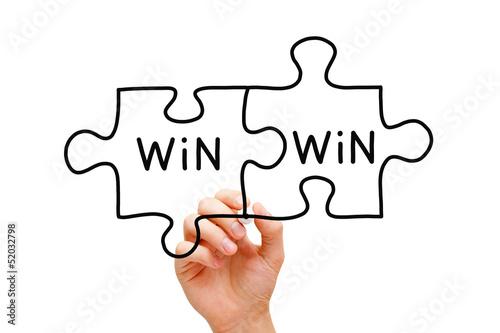Valokuvatapetti Win Win Puzzle Concept