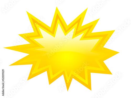 Obraz Vector yellow explosion star - fototapety do salonu