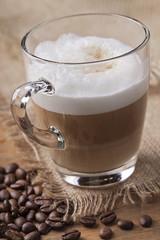 Panel Szklany Do kawiarni Latte macchiato coffee