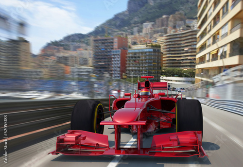 Staande foto F1 red f1 racing monaco
