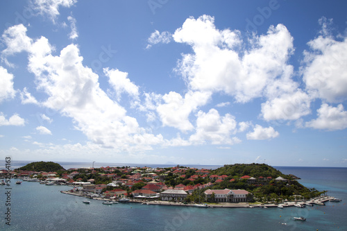 Fotografie, Obraz  Aerial view of Gustavia Harbor at St Barts