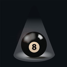 Schwarze Billardkugel Nummer A...