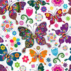 Fototapeta Romantyczny Seamless spring pattern