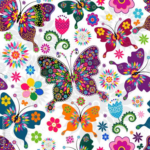 Seamless spring pattern #52067952
