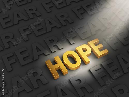 Fotografie, Obraz  Hope Outshines Fear