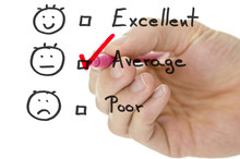 Customer Service Evaluation Form With Tick On Average