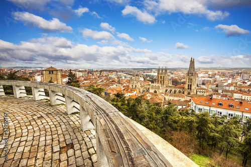 Panoramic view of Burgos, Castilla y Leon, Spain