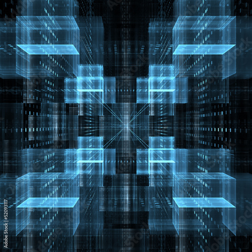Abstract business science or technology background - 52093117