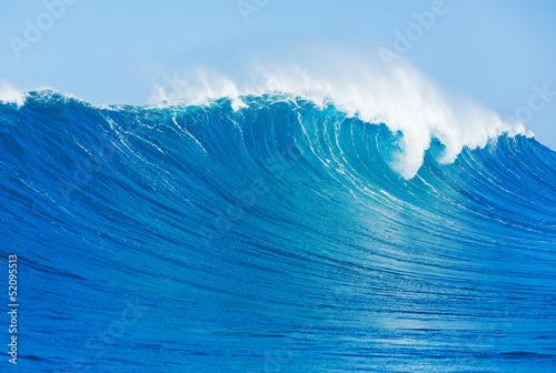 Autocollant pour porte Eau Wave