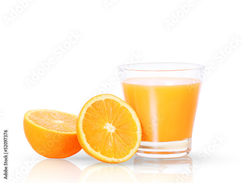 Keuken foto achterwand Sap Orange juice and slices